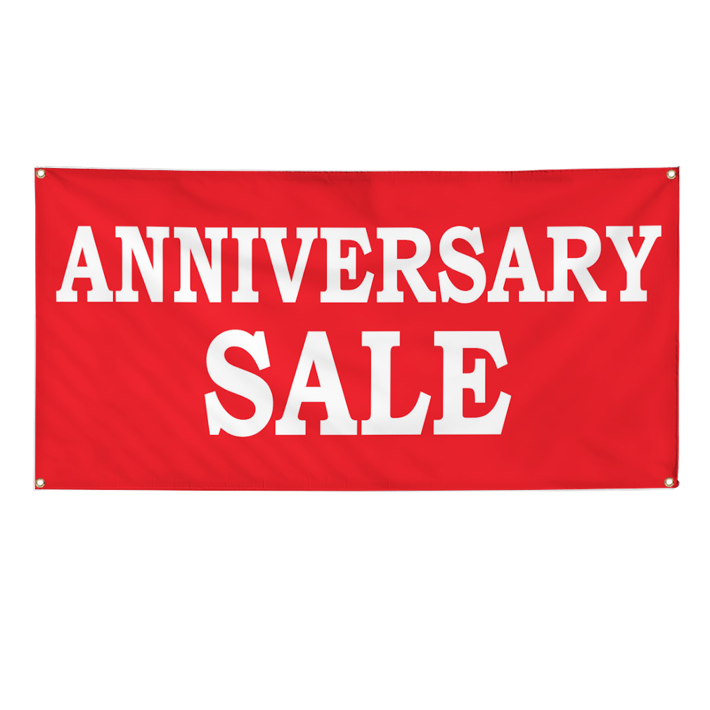 Anniversary sale banner sign w grommets ebay