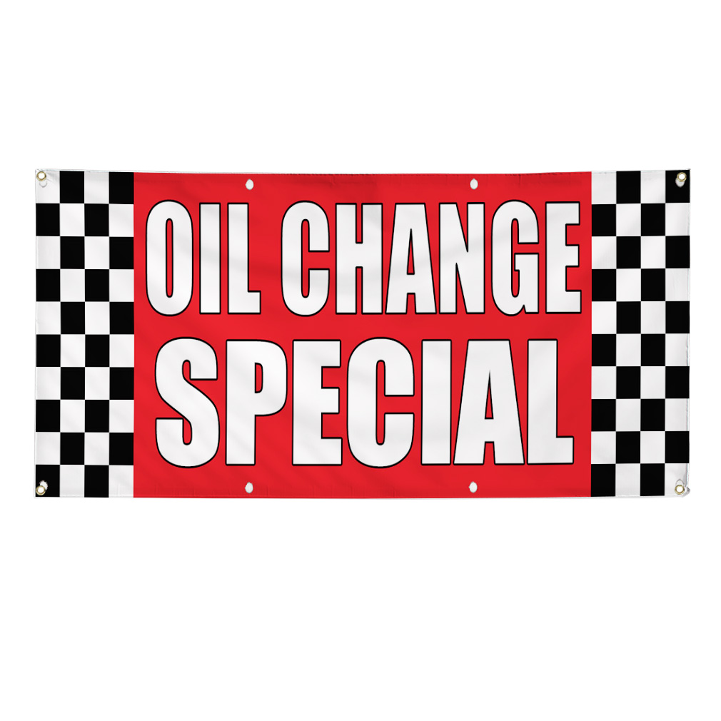 Product Description This Tune Ups Brakes Oil Change Banner is a great way to advertise your.