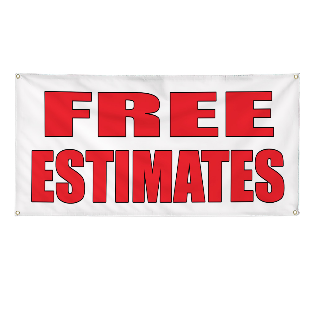 Auto Body Repair Cost Estimator: FREE ESTIMATES Auto Body Shop Car Repair Banner Sign 4 Ft