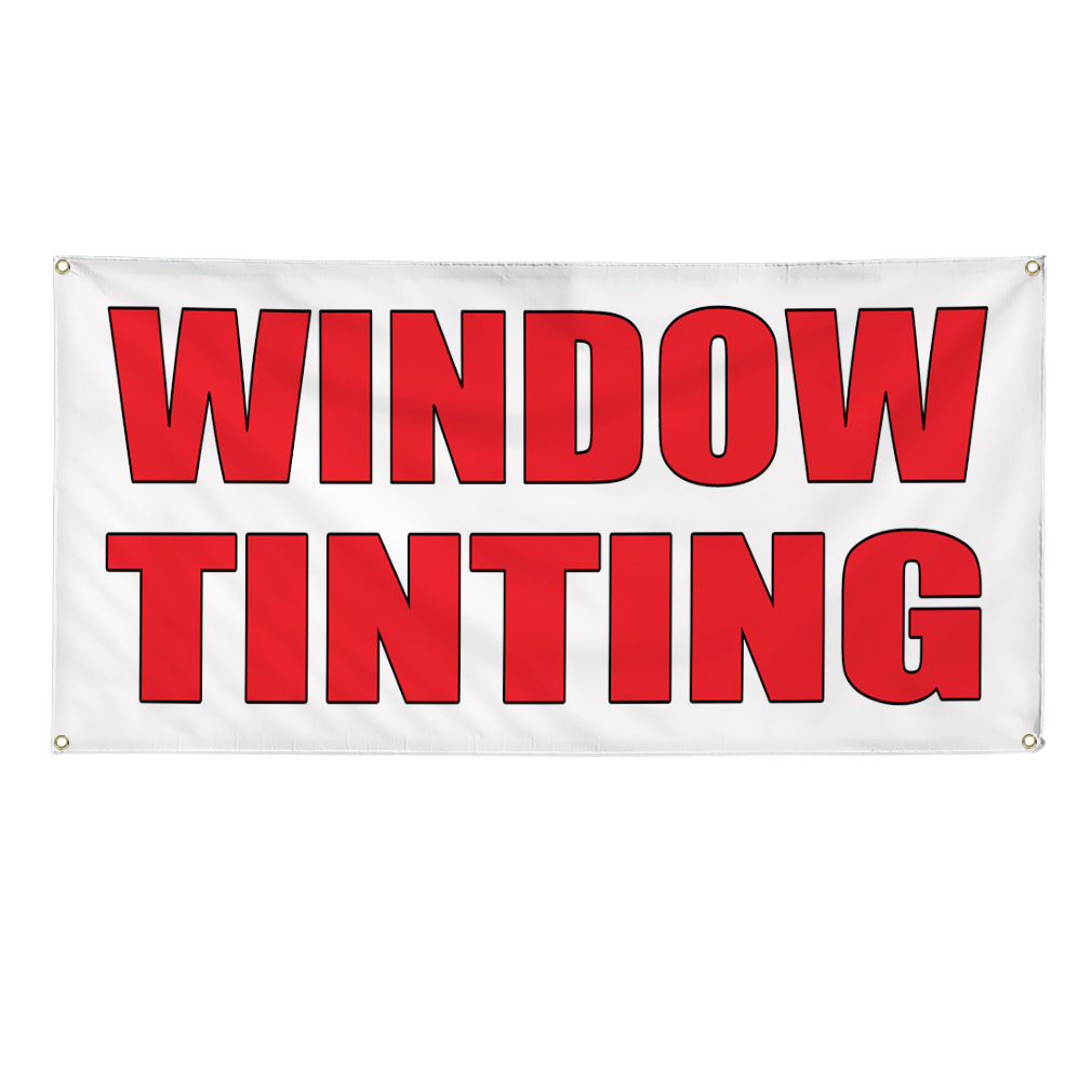 Window Tinting Auto Body Shop Car Repair Banner Sign 8 Ft