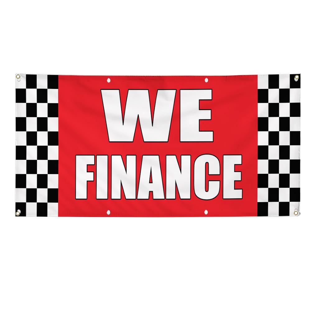 Finance Sign: We Finance Auto Body Shop Car Repair 13 Oz Vinyl Banner