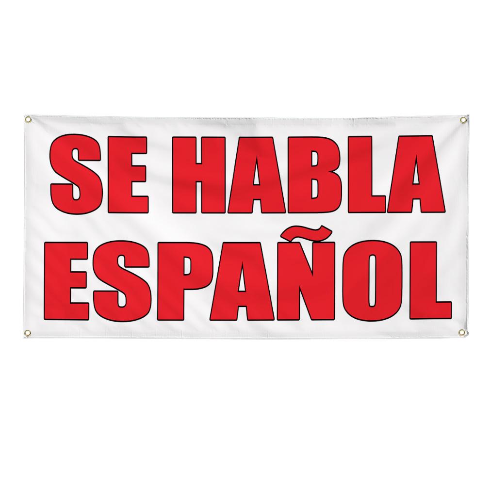 Se Habla Espanol Auto Body Shop Car Repair Banner Sign 4