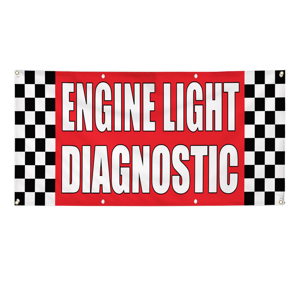 ENGINE LIGHT DIAGNOSTIC Auto Body Shop Car Banner Sign 3