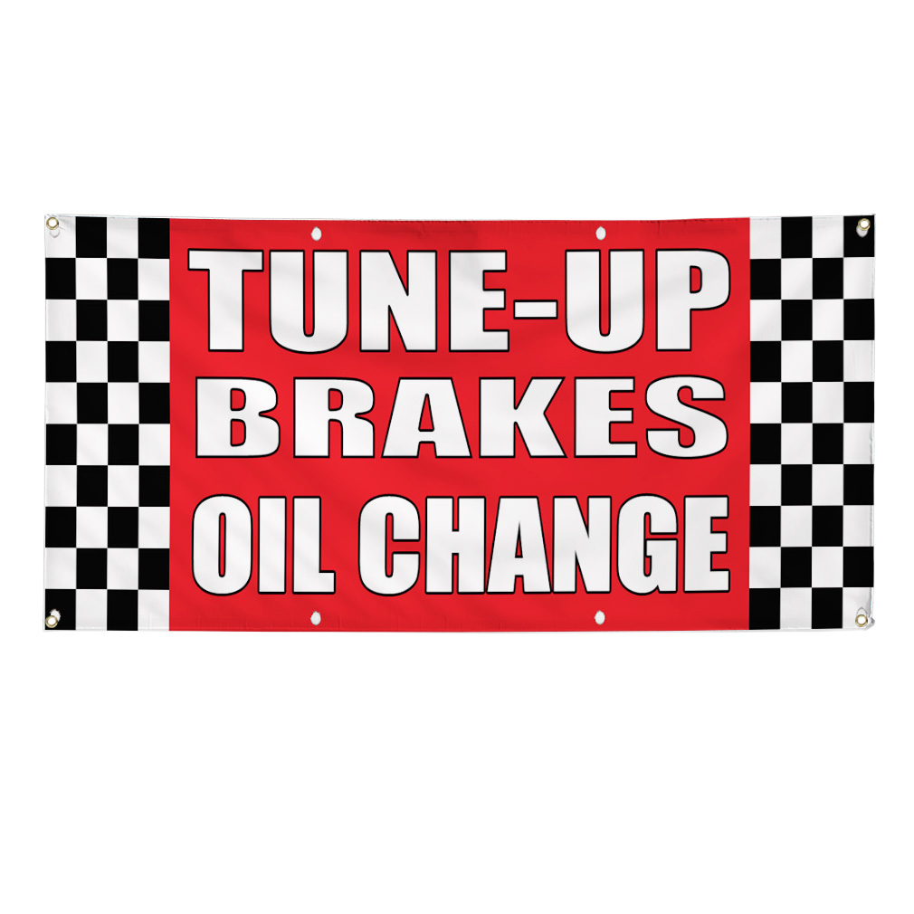 tune up brakes oil change auto body shop car banner sign 3. Black Bedroom Furniture Sets. Home Design Ideas