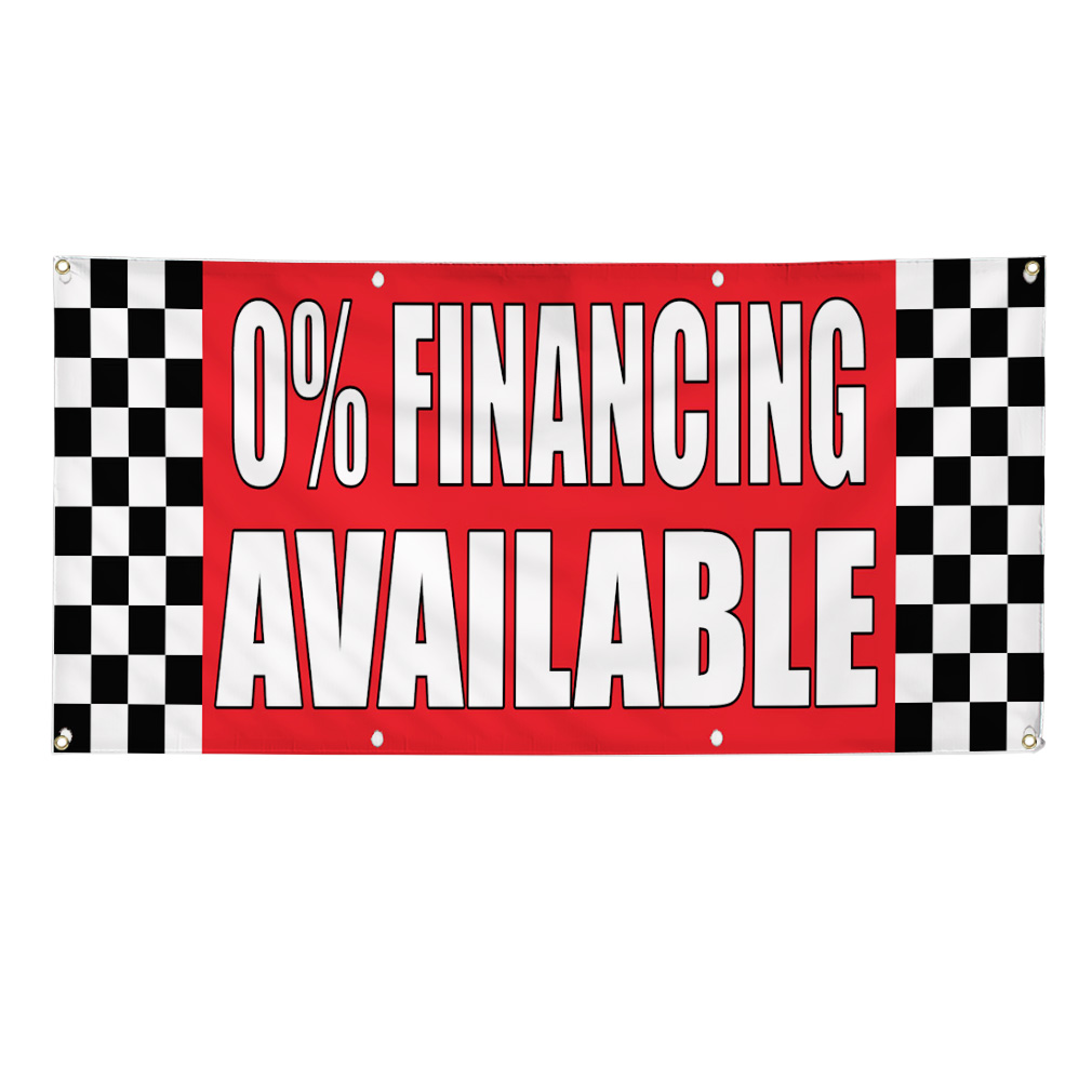 0 Financing Available Auto Body Shop Car Banner Sign 3 39 X