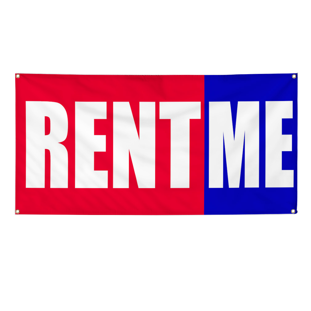 Rent Me Promotion Business Sign Banner 4 X 2 W 4