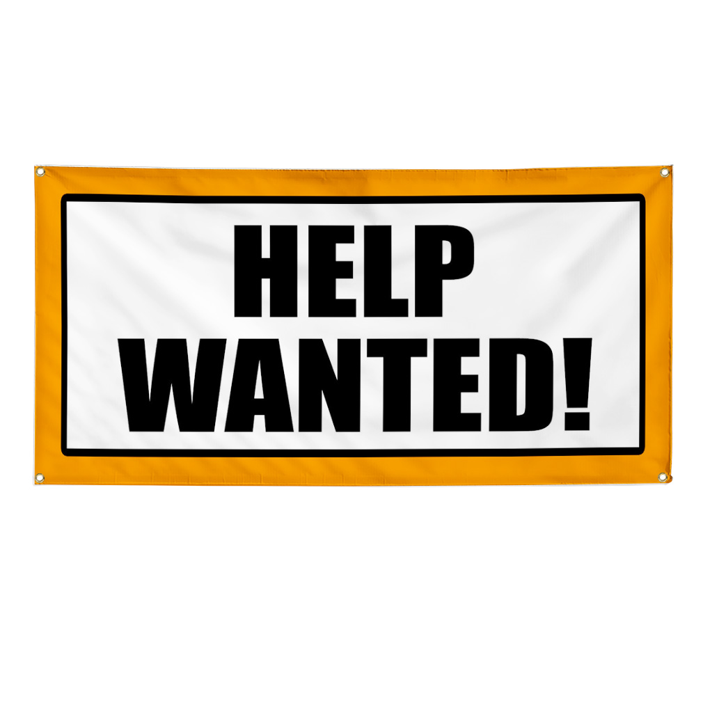 Help Wanted Promotion Business Sign Banner 2 X 4 W 4