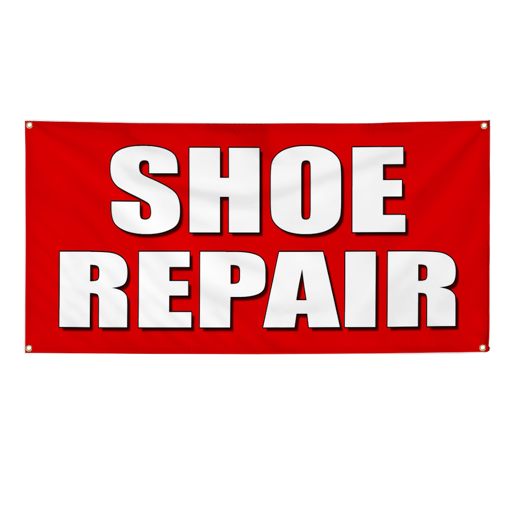 Shoe Repair Promotion Business Sign Banner 3 X 6 W 6