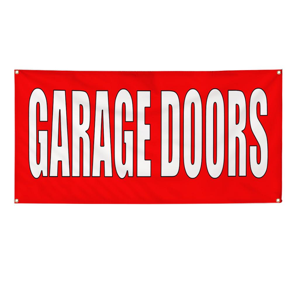 Garage doors red home remodeling oz vinyl banner sign ebay
