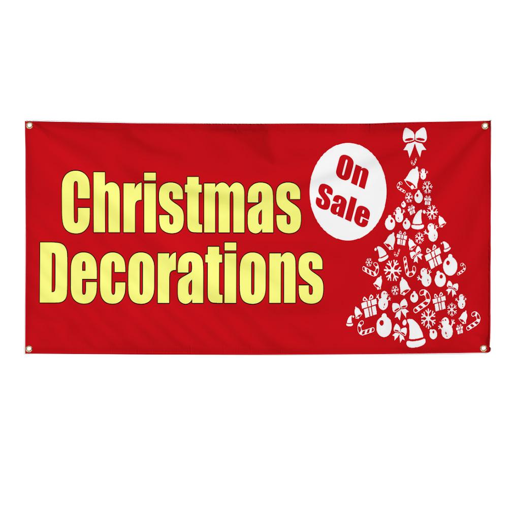 Christmas Decorations 13oz Vinyl Banner Sign Ebay