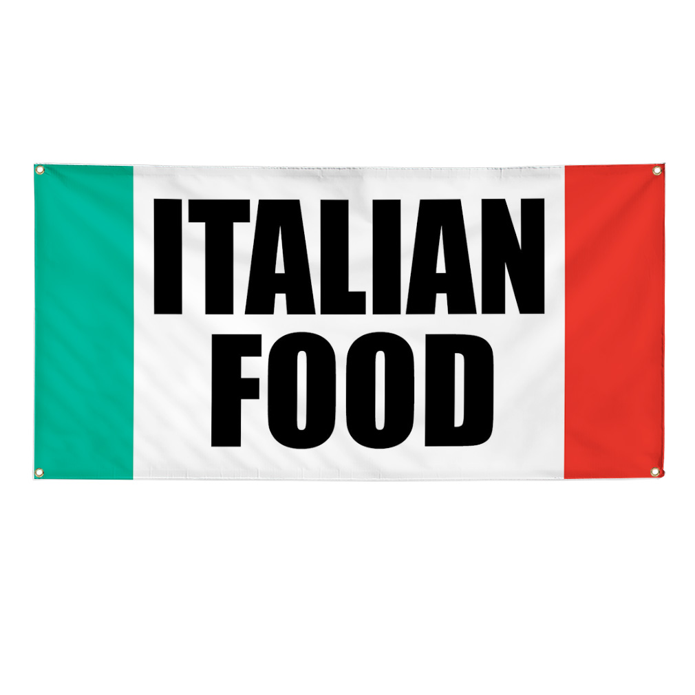 Italian Food Food Fair Promotion Business 13oz Vinyl