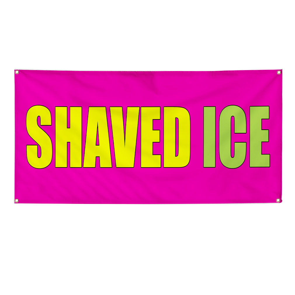 Shaved Ice Food Fair Promotion Business Sign Banner 4 X 8