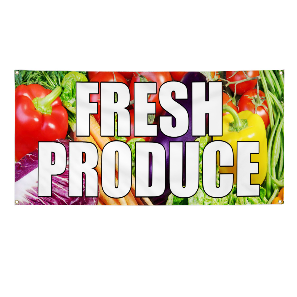 Fresh Produce Signs And Banners New Style For 2016 2017