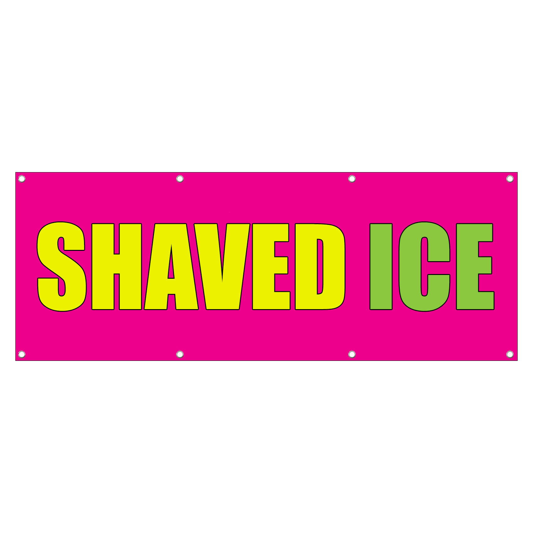 shaved ice banner