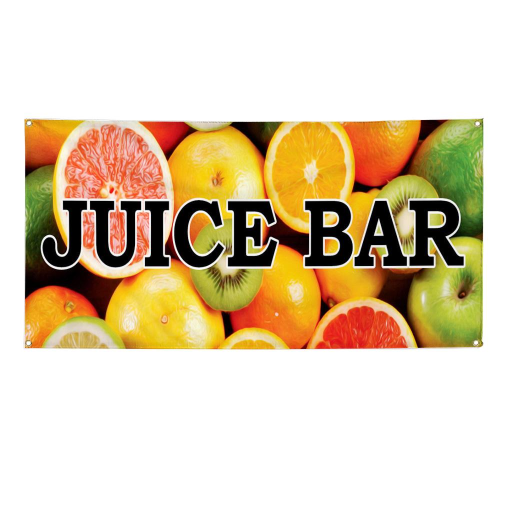 Juice bar food fair truck restaurant 2 ft x 4 ft banner for Food truck juice bar