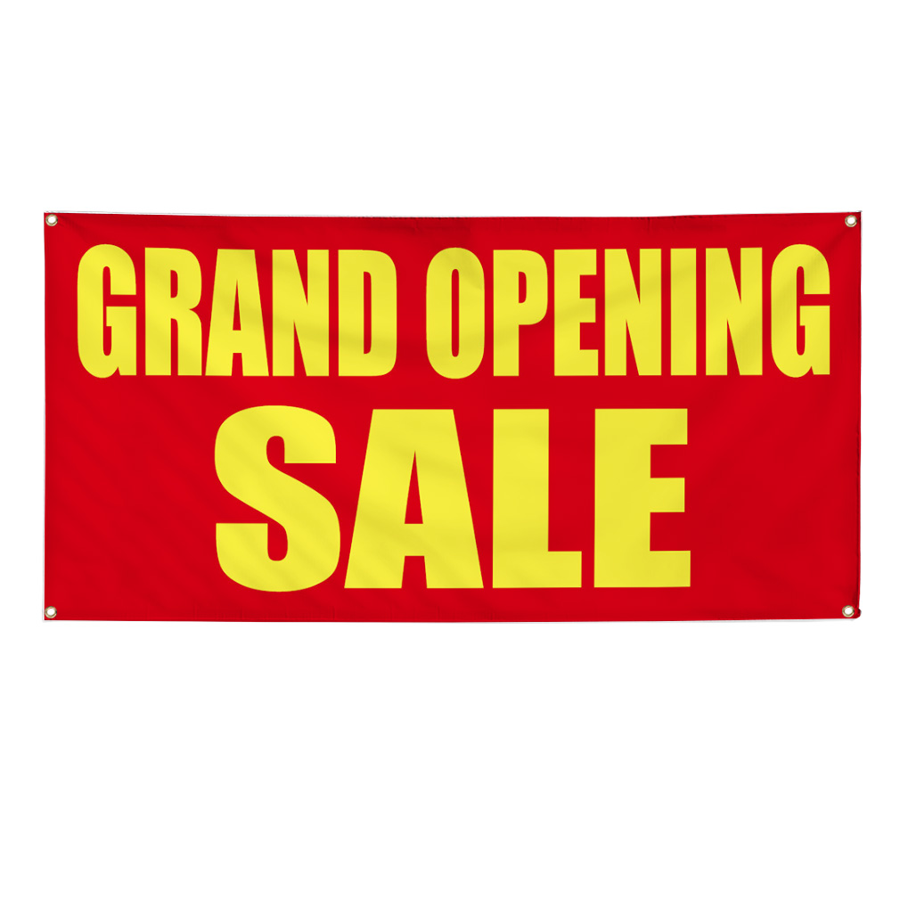 Grand Opening Sale Yellow Advertisement 2 Ft X 4 Ft Banner