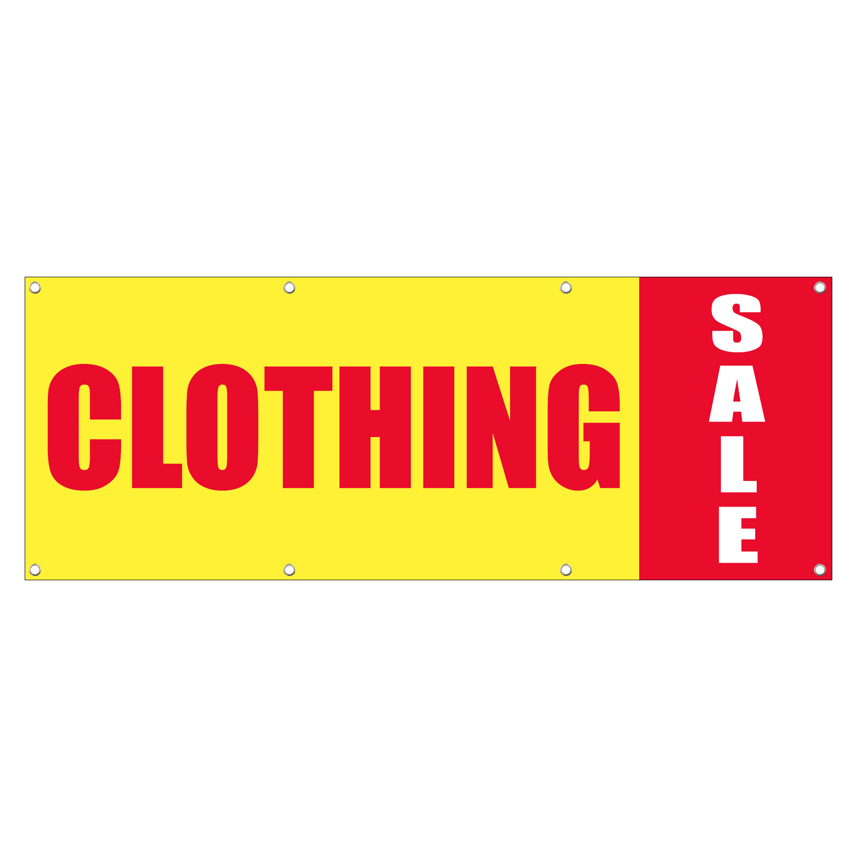 Clothing Sale Promotion Business Sign Banner 4 Feet X 2