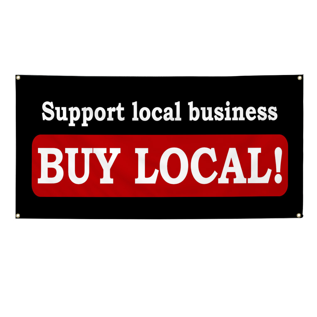 Support Local Business Buy Local Food Market 13oz Vinyl