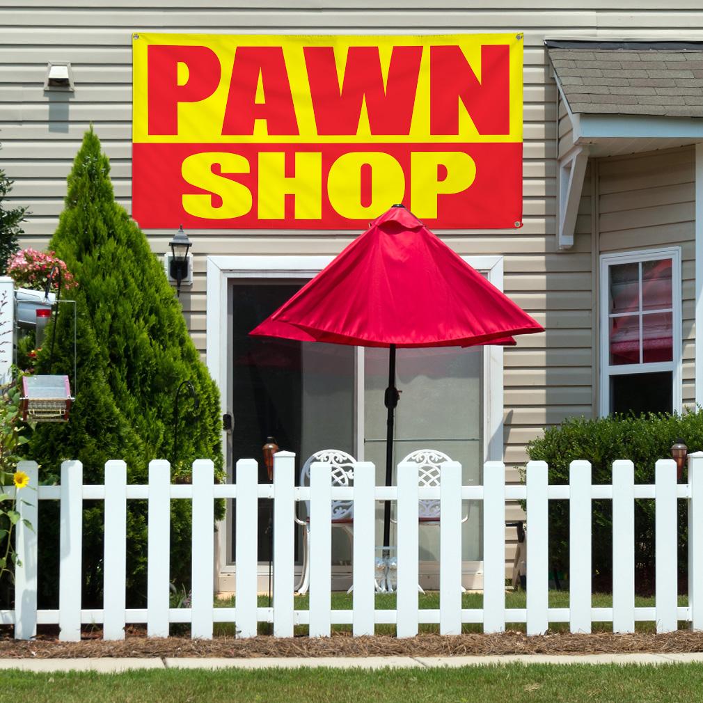 Vinyl Banner Multiple Options Pawn Shop Promotion Business Business Outdoor