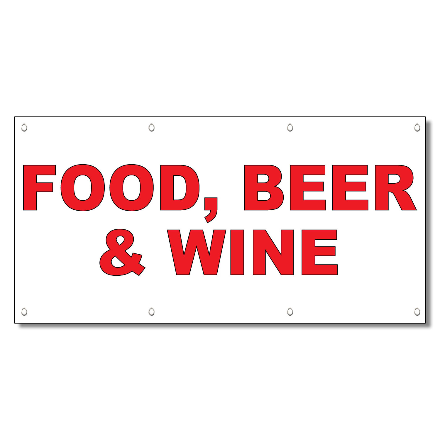 Food Beer Amp Wine Red Food Bar Restaurant Food Truck Vinyl