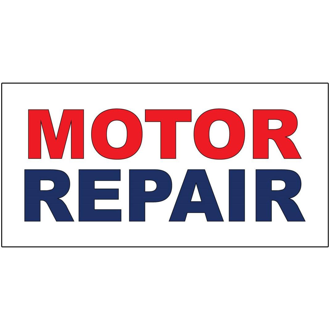 Motor Repair Red Blue Auto Car Repair Shop Decal Sticker