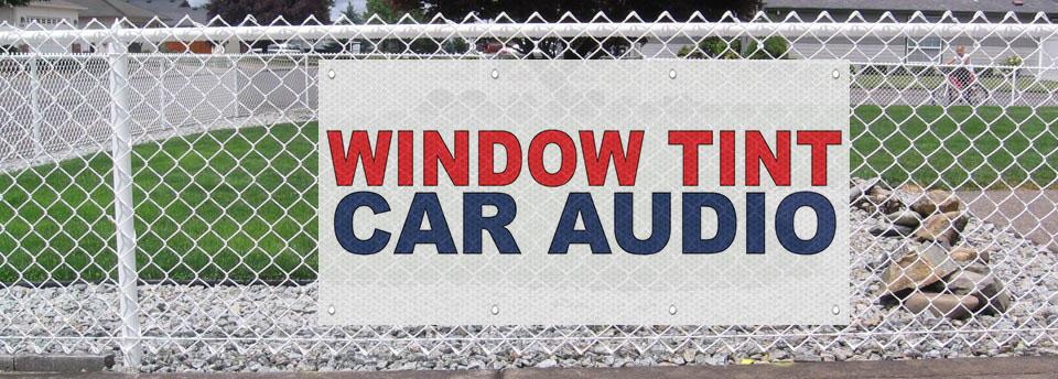 Window Tint Car Audio Red Blue Auto Car Repair Shop Mesh