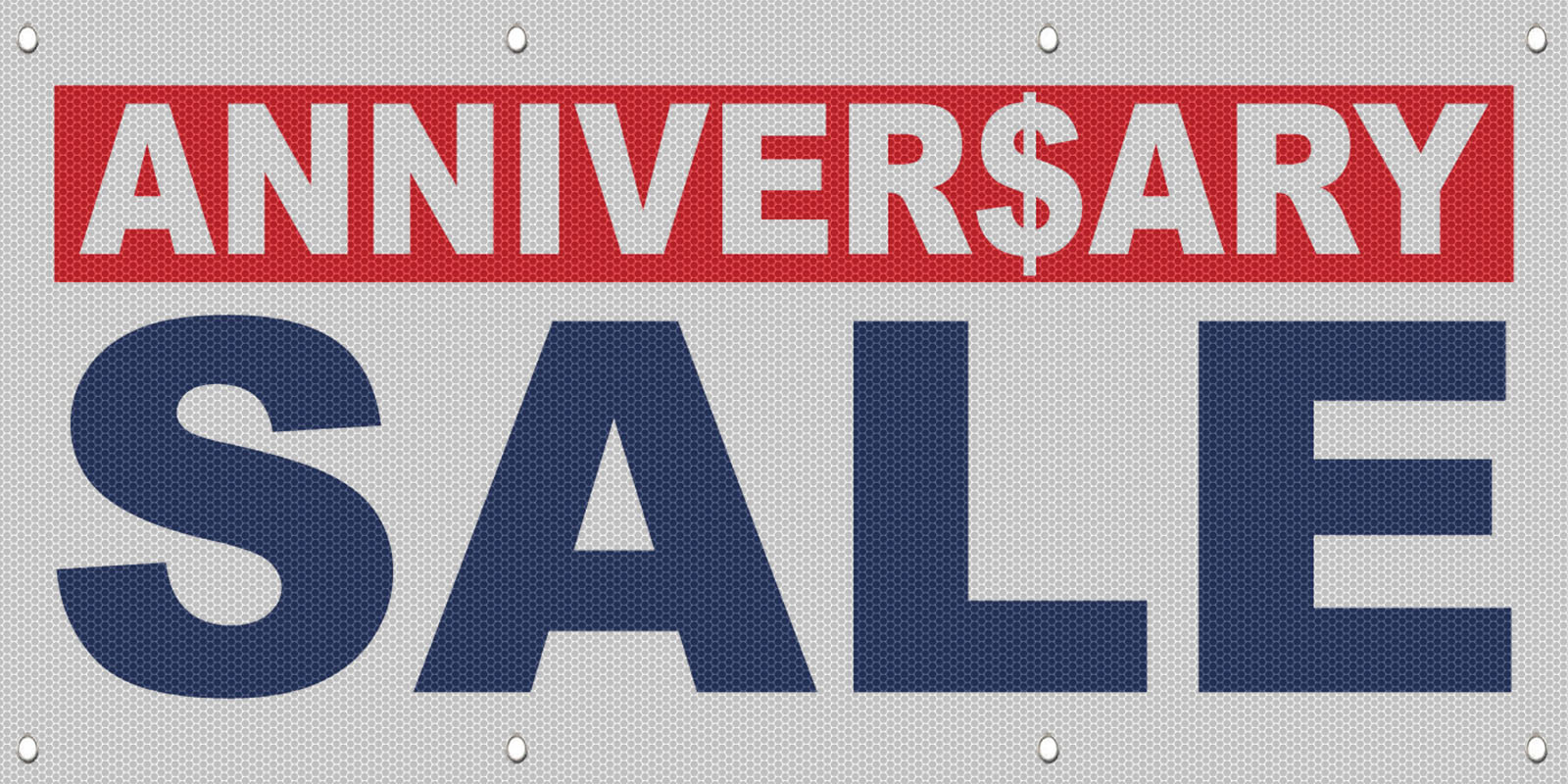 Anniversary sale red background blue mesh windproof fence