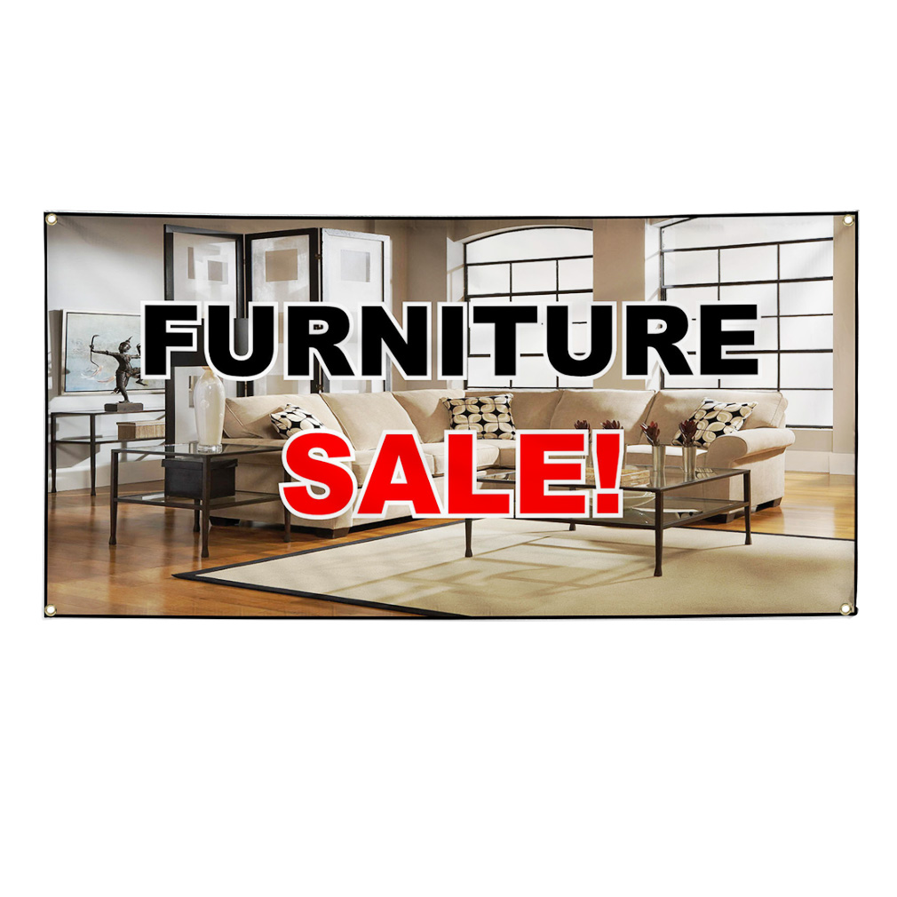 Furniture sale advertisement vinyl banner sign w grommets for 3 furniture grommet