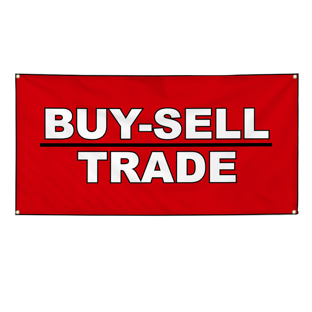 Buy Sell Trade Business Vinyl Banner Sign W Grommets 3 Ft