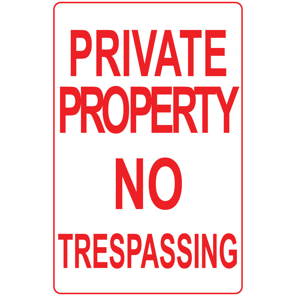 This is a photo of Irresistible Printable No Trespassing Signs