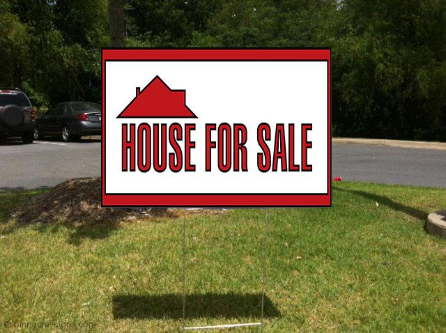 house for sale real estate corrugated plastic yard sign free stakes ebay. Black Bedroom Furniture Sets. Home Design Ideas