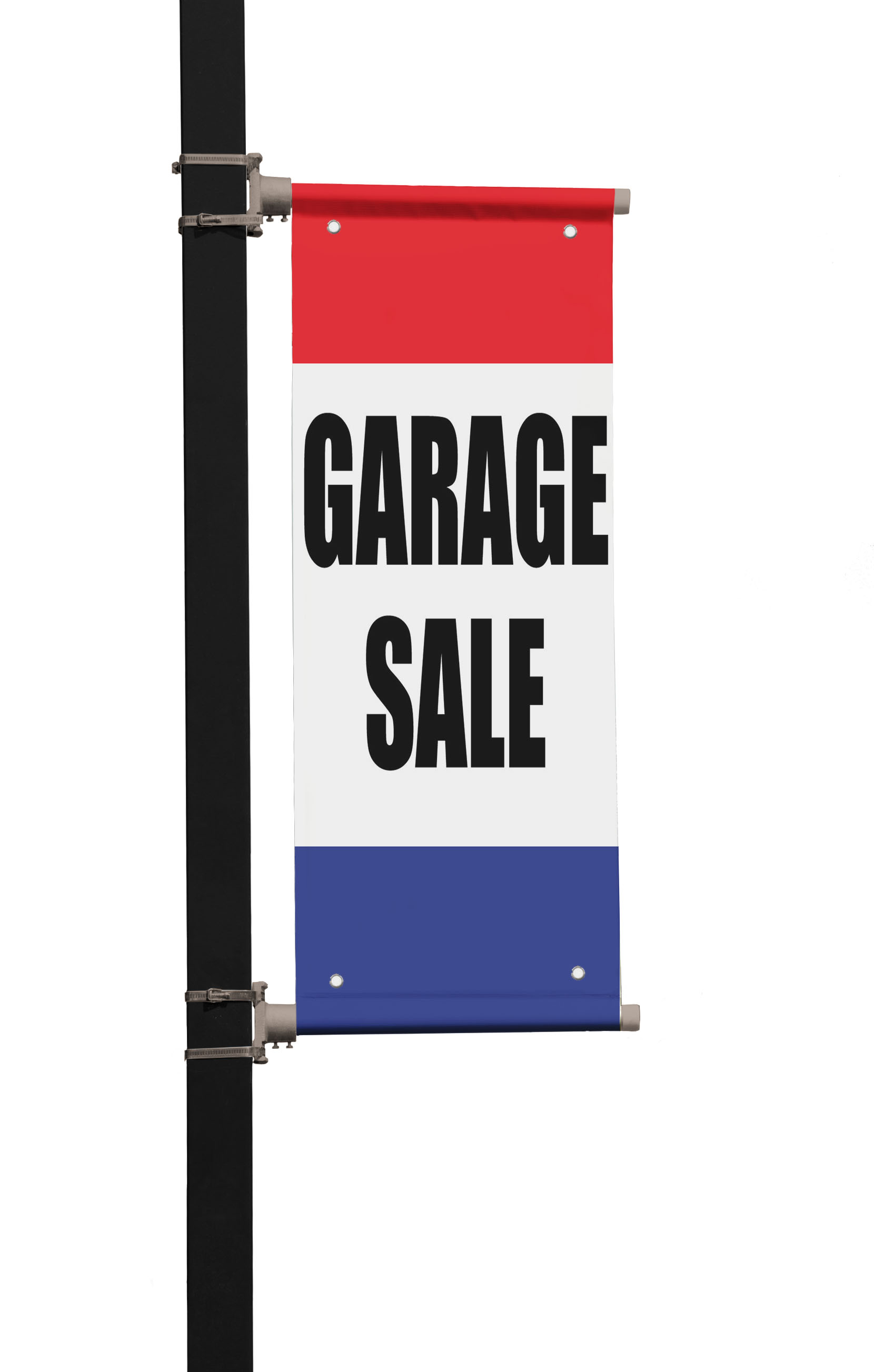 Garage sale double sided vertical pole banner sign ebay