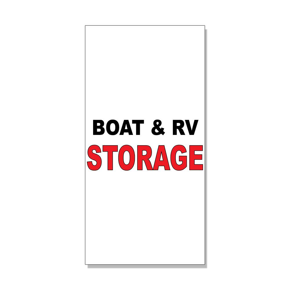 Boat Storage Signage : Boat rv storage black red decal sticker retail store