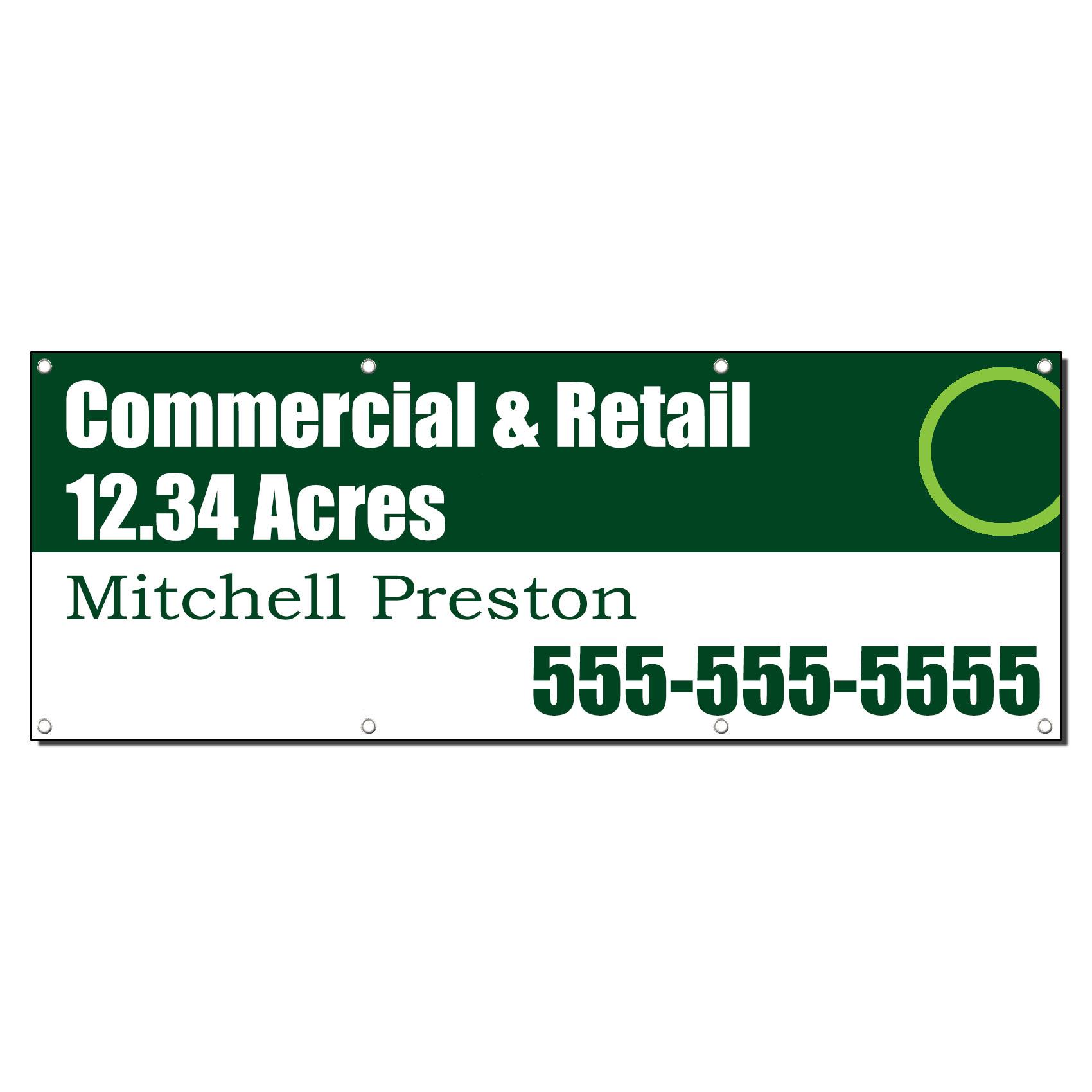 Commercial Amp Retail Real Estate Agent Custom Banner Sign 3