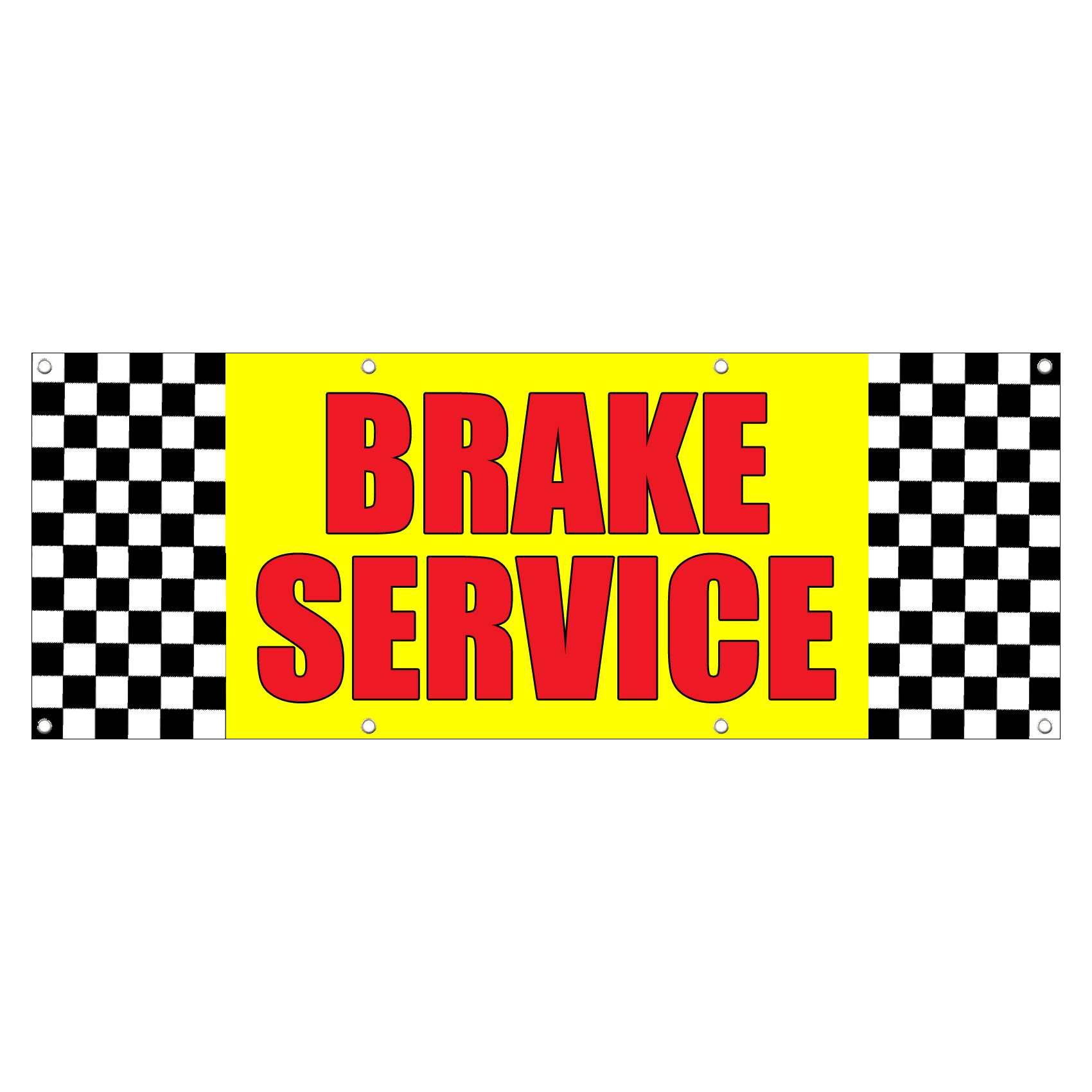 Car Brake Repair Service: BRAKE SERVICE CAR BODY SHOP REPAIR Sign Banner 4 Feet X 2