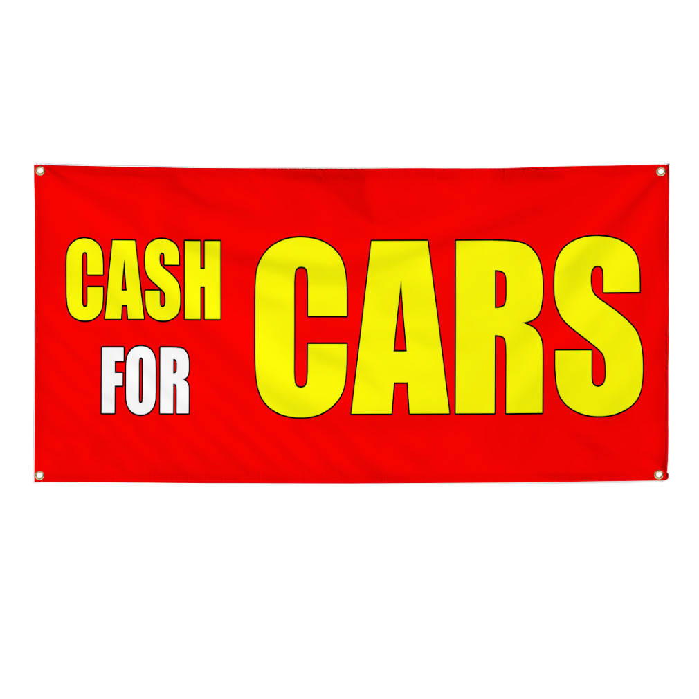 CASH FOR CARS CAR BODY SHOP REPAIR Business Sign Banner 4