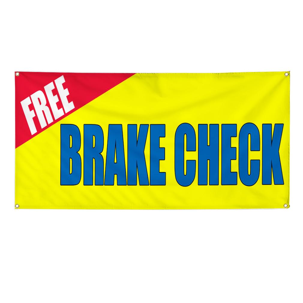 Free Brake Check Car Auto Body Shop Repair Sign Banner 3