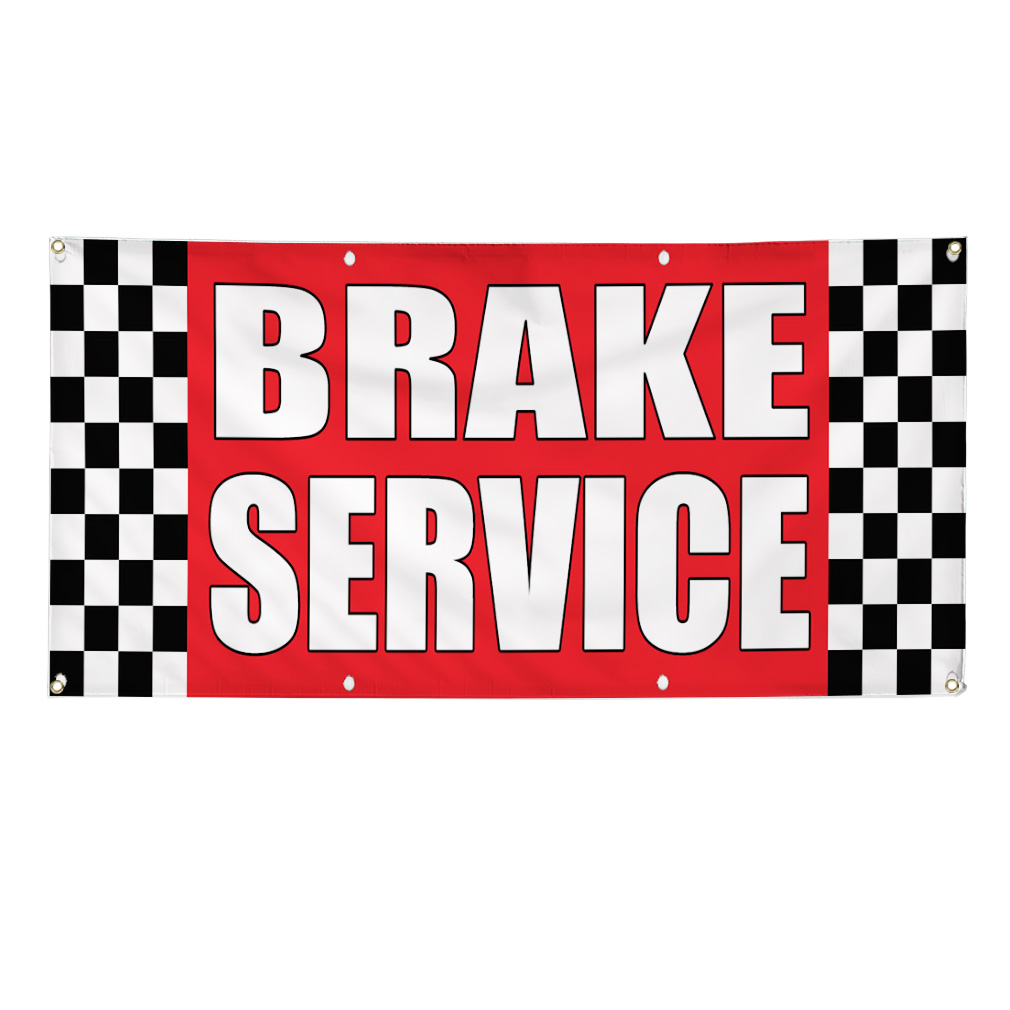 Car Brake Repair Service: BRAKE SERVICE Auto Body Shop Car Repair Banner Sign 2 Ft X