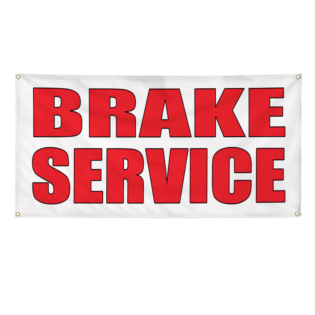 Car Brake Repair Service: BRAKE SERVICE Auto Body Shop Car Repair 13oz Vinyl Banner