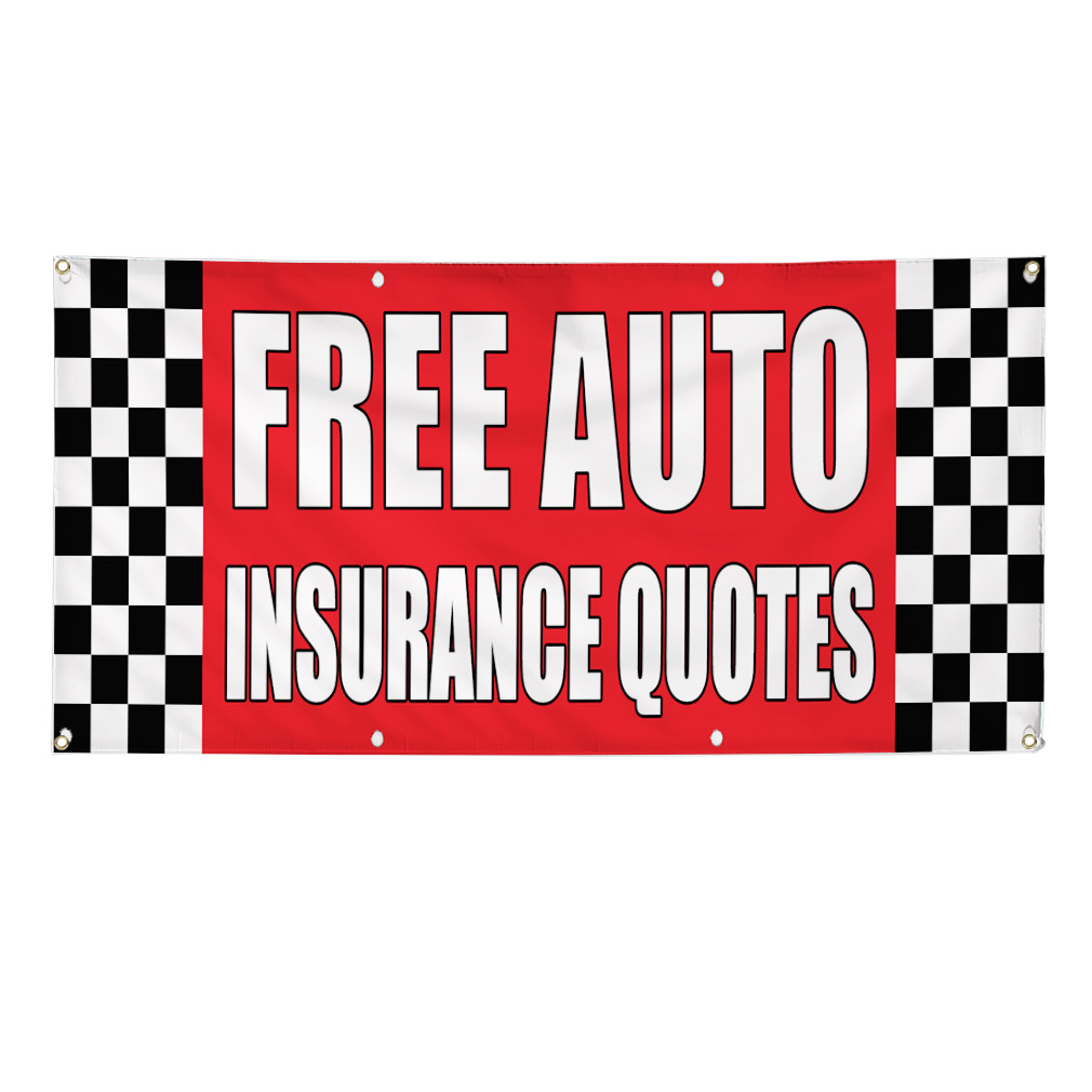 Insurance Quotes For Car: FREE AUTO INSURANCE QUOTES Auto Body Shop Car Banner Sign