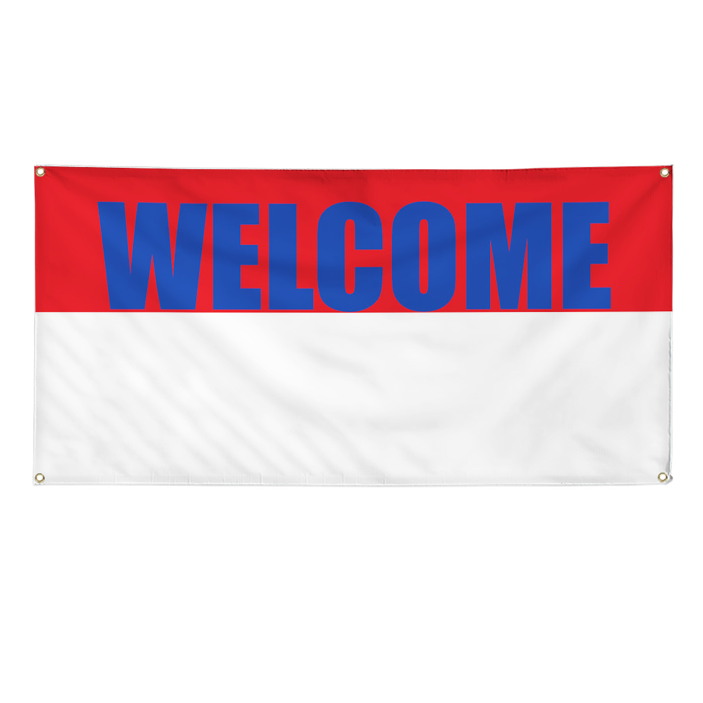 WELCOME NOW OPEN Promotion Business Sign Banner 3' x 6' w ...