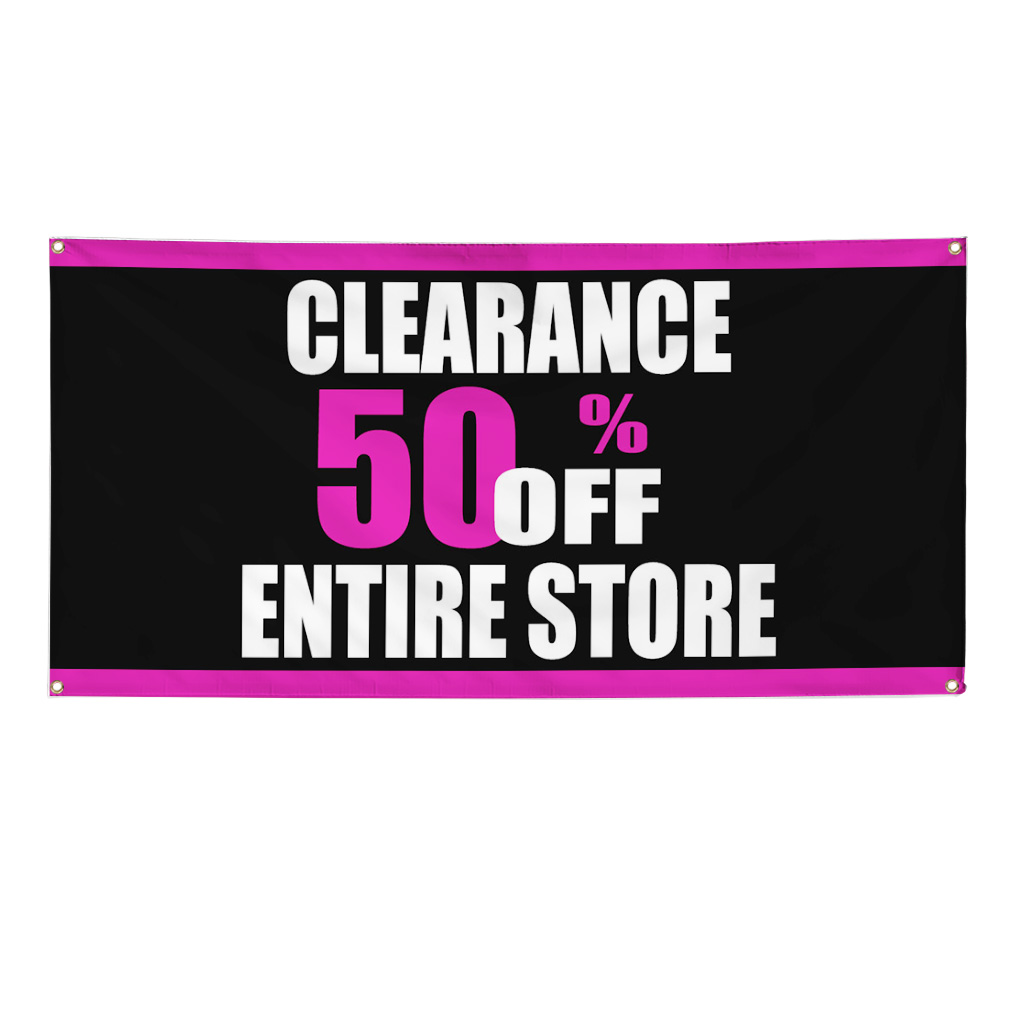Clearance 50 Off Entire Store Sale Business Sign Banner 4