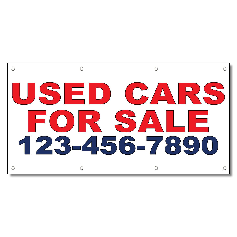 Used Cars For Sale Phone Custom Custom 13 Oz Vinyl Banner
