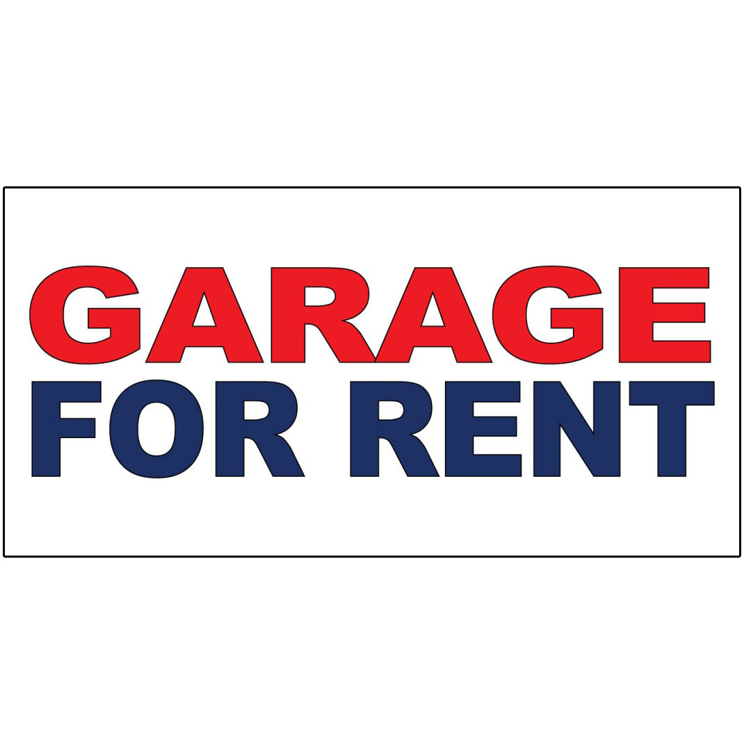 Garages For Rent: Garage For Rent Red Blue DECAL STICKER Retail Store Sign