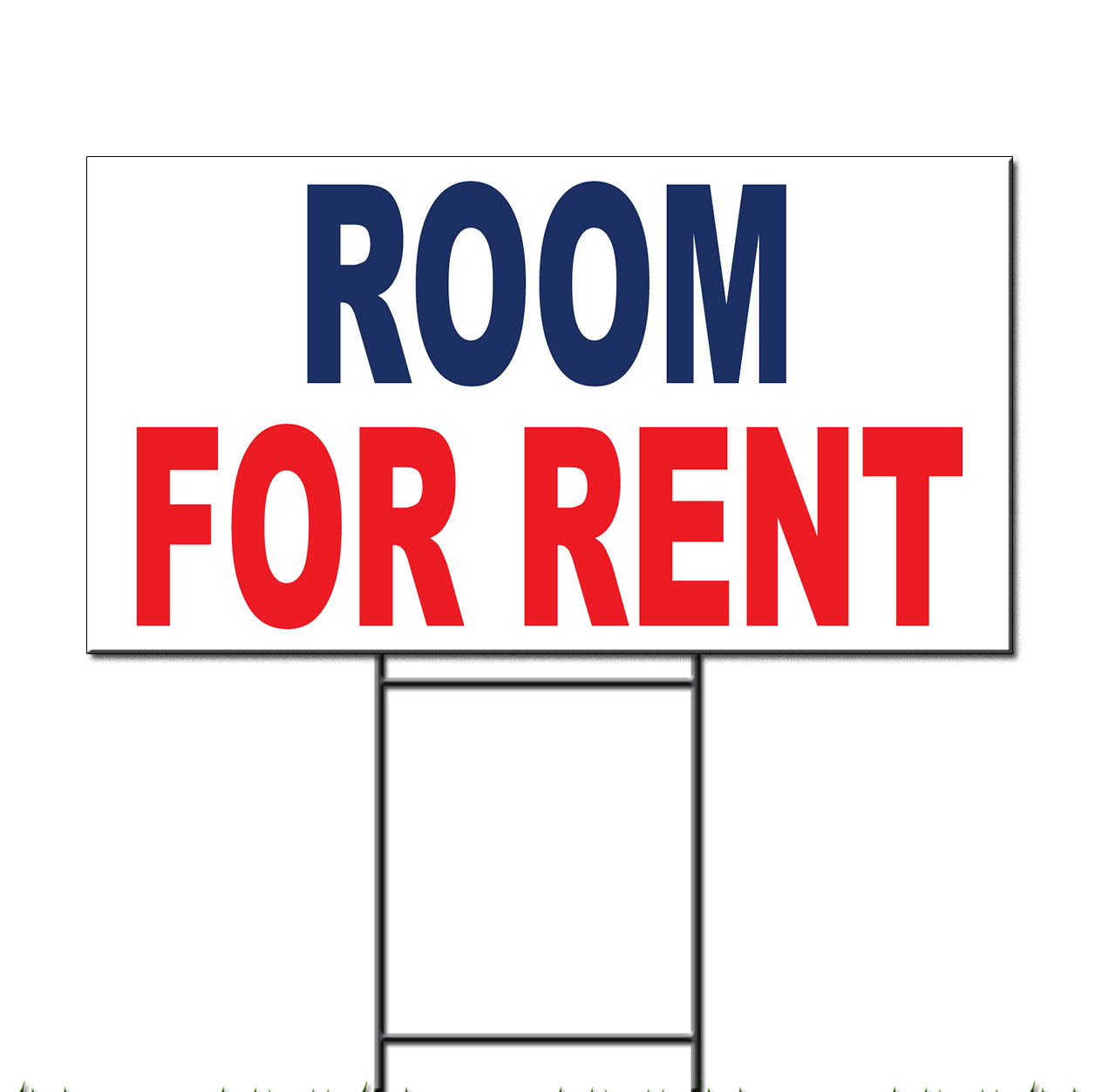 Room For Rent: Room For Rent Blue Red Corrugated Plastic Yard Sign /Free