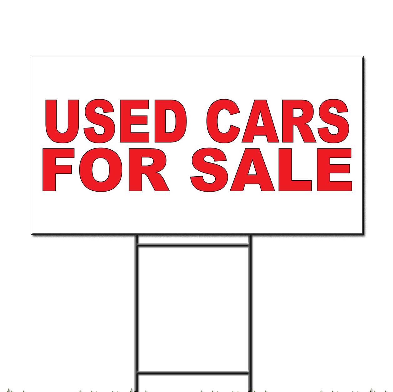 Used Cars For Sale Red Corrugated Plastic Yard Sign /Free