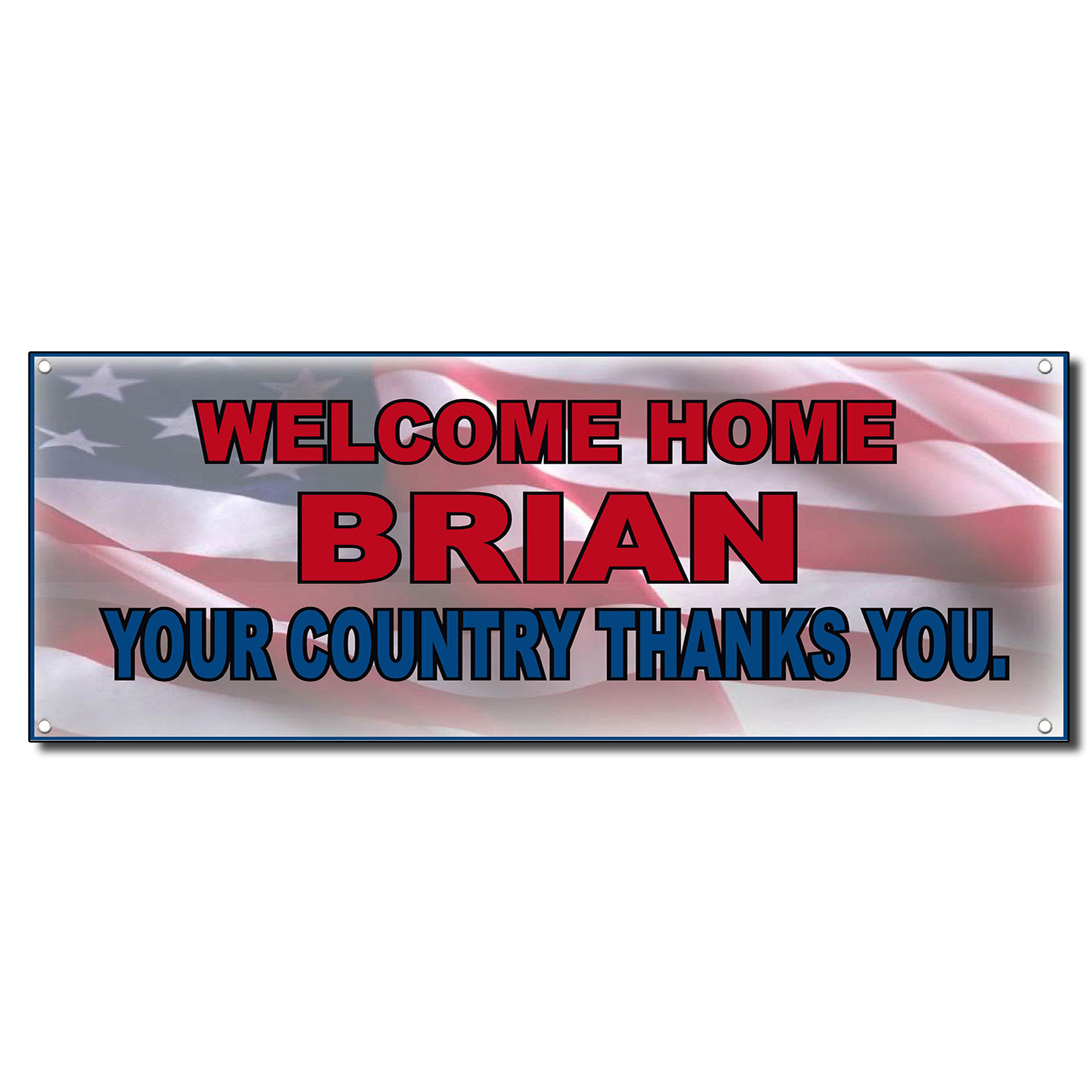 Welcome Home Military Country Thanks Custom Banner Sign w ...