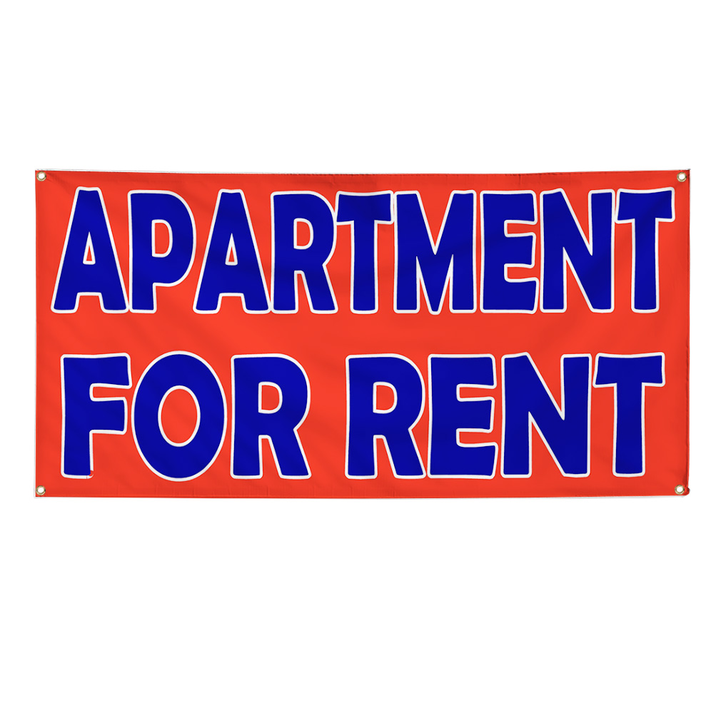 Apartment For Rent Sign: Apartment For Rent 13 Oz Vinyl Banner Sign With Grommets
