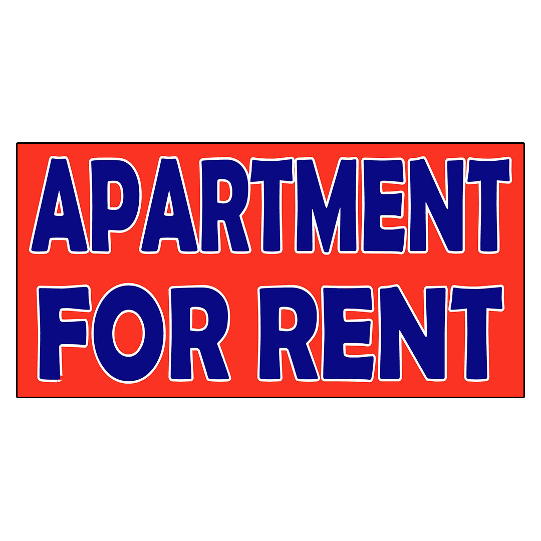 apartment for rent decal sticker retail store sign ebay. Black Bedroom Furniture Sets. Home Design Ideas