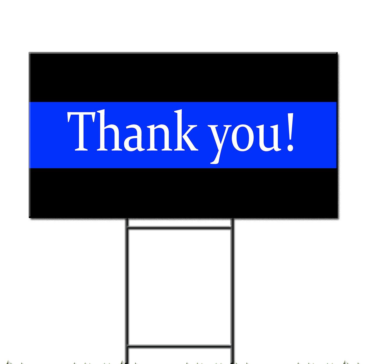 Thank You Police Cop Corrugated Plastic Yard Sign Free